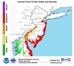 picture of coastal flood threat