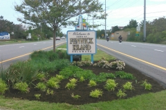 Entrance to Town mulch